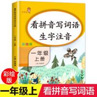 看拼音写词语生字注音一年级上 小学语文同步训练小学一年级生字注音训练看图说话写话训练天天练拼音专项训练