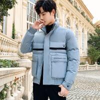 棉衣男士冬季2019新款潮牌短款羽绒棉服加厚男装棉袄休闲工装外套