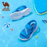 骆驼童鞋儿童凉鞋2019新款夏季露趾透气个性网布鞋子厚底老爹凉鞋