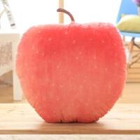 创意仿真水果抱枕3D毛绒趴睡枕食物办公室午休午睡枕棉靠背腰靠垫 红富士45*45厘米 见上描述