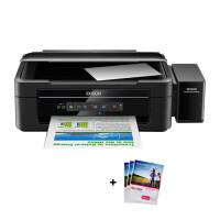 爱普生(EPSON)L405墨仓式智能无线打印机 家用彩色喷墨一体机 连供 打印 复印 扫描 替L485 385 标配