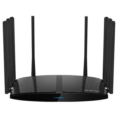 水星D26G全千兆双频无线路由器家用wifi穿墙王飞鹰路由AC2600M智能5G高速光纤宽带八天线信号增强大户型别墅机 八天线信号更强 双频2600M