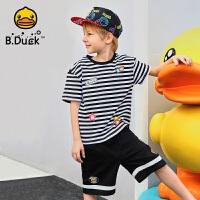 【4折价:99.6】B.Duck小黄鸭童装男童针织圆领短T BF2001928