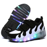 暴走鞋 儿童溜冰鞋男童单轮滑轮运动鞋学生带轮子灯鞋女童发光鞋轮滑鞋健身运动
