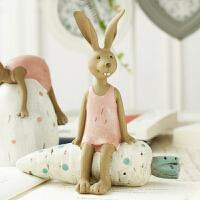 装饰品创意工艺礼品树脂兔子客厅卧室摆件结婚生日礼物