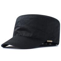 超大头围帽子男春夏特大码军帽加大加深遮阳大号鸭舌帽65 黑色 棉布 超深超大约(62-68cm)