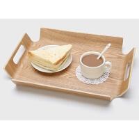 长方形木质托盘创意茶盘水杯盘子欧式大水果盘托点心面包餐具