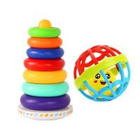 宝宝叠叠乐彩虹塔套圈玩具叠叠圈不倒翁婴儿玩具6-12个月早教力