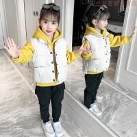 女童三件套秋冬装2018新款洋气儿童装中大童冬季女孩加绒加厚套装