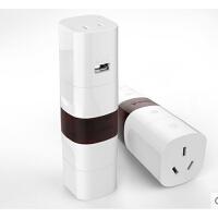 公牛转换器GN-L07U多国旅行转换插头转换插座带USB