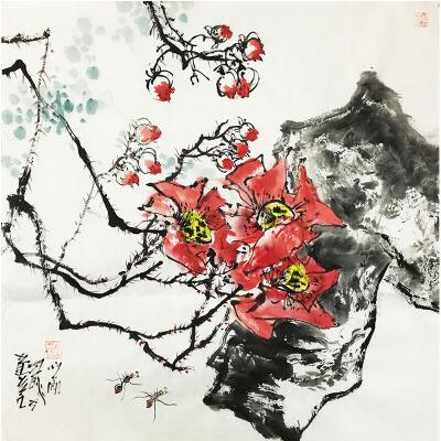 江文湛《野花》著名画家