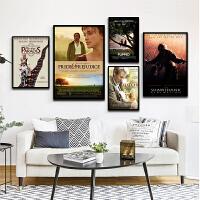 电影海报装饰画现代客厅酒吧咖啡厅壁画欧美经典爱情电影有框挂画