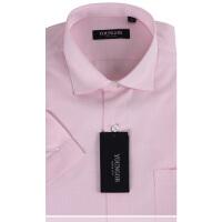 YOUNGOR雅戈尔男装 商务正装 男士衬衫 免烫 粉色婚庆系列 短袖衬衫 SNP13180-43