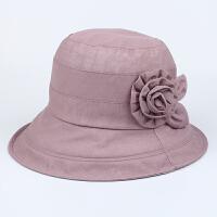 夏季女帽薄款中年太阳帽遮阳防晒帽中老年老人奶奶春夏天妈妈帽子