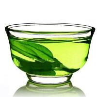 6只装功夫茶杯功夫茶具 小茶碗品茗杯耐热玻璃杯玉兰杯 玻璃茶杯40ML