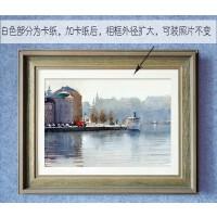 复古实木画框A4A34开8开20 24 30 36寸相框油画框拼图框镜框定制