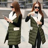 棉衣马甲女士外套中长韩版新韩版时尚无袖冬季外套休闲背心马夹潮