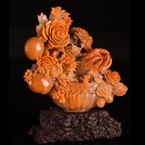 《硕果累累摆件》天然寿山石取巧全手工精雕摆件