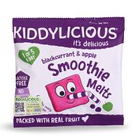 英国童之味kiddylicious 宝宝零食黑加仑苹果溶豆进口水果溶溶豆6g