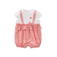 [2件3折价:59.1]戴维贝拉夏装新款连体衣宝宝假两件哈衣爬服DBZ7443