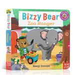 英文原版绘本 小熊很忙系列 Bizzy Bear Zoo Ranger 动物园管理员 纸板互动活动操作游戏书 适合0-