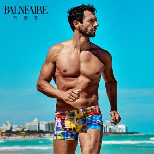 范德安男士平角泳裤 时尚速干运动大码游泳裤 海边防晒成人沙滩裤