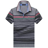 伯思凯男士条纹翻领短袖T恤polo衫男 夏季新款休闲半袖T恤男