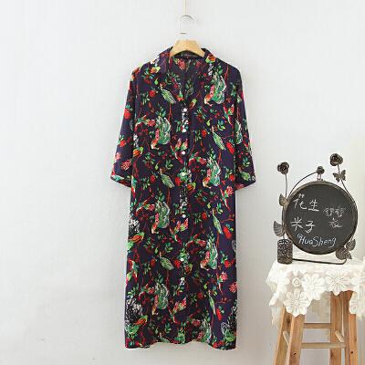 大码女装春装欧美风波西米亚花色长款衬衫式连衣裙胖MM中长裙 一般在付款后3-90天左右发货,具体发货时间请以与客服协商的时间为准