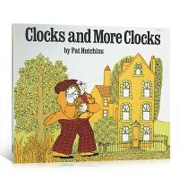 英文原版 Clocks and More Clocks金老爷买钟 亲子互动认识时间的概念平装绘本启蒙4-6-8岁阅读图
