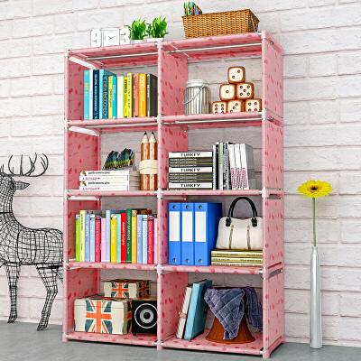 索尔诺简易书架落地置物架学生桌上书柜儿童桌面小书架收纳架简约现代每个隔层4根钢管 承重加倍