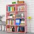 索尔诺简易书架落地置物架学生桌上书柜儿童桌面小书架收纳架简约现代