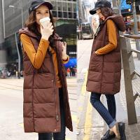 棉衣马甲女士外套冬季新款女装韩版中长款加厚棉衣外套女潮羽绒棉 咖色
