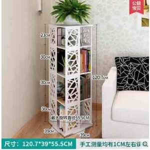 门扉 书架 旋转书架置物架 卫生间创意简易收纳柜a4办公室CD架层架