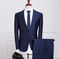 男士西服套装商务休闲韩版职业装伴郎新郎结婚礼服修身西装两件套