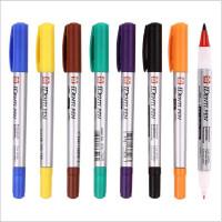 日本樱花小双头油性记号笔黑色绘画勾线笔彩色不可擦红色美术生专用工笔画学生防水速干不易掉色细款勾边手绘