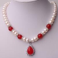 天然淡水玛瑙马来玉珍珠项链 项坠 送妈妈婆婆女款