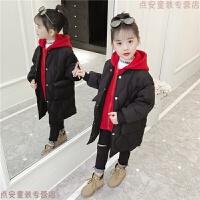 女童棉衣2018新款儿童冬装棉袄洋气羽绒女孩中长款加厚外套潮