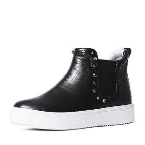 Teenmix/天美意专柜同款小牛皮女短靴6T141DD6