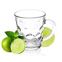 Glasslock�w朗�n���M口�化玻璃��手把水波�y茶杯水杯子280ml玻璃水杯RM404