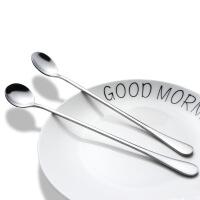 韩式不锈钢长柄冰淇淋勺 加厚加长冰匙 调味勺 咖啡搅拌勺 长柄勺 花色款式随机