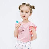 迷你巴拉巴拉女童背心2019夏新款儿童宝宝荷叶边薄款甜美无袖T恤