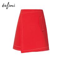 【商场同款】伊芙丽不规则一片式A字半身裙短裙1180431844731