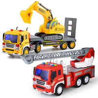 大号挖掘机挖土机儿童玩具小汽车男孩子吊车翻斗车工程车消防升降