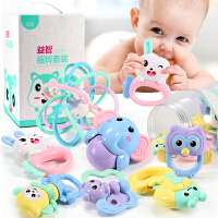 男孩宝宝0-1岁3-6-12个月5女孩 婴儿童玩具可咬水煮牙胶手摇铃