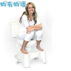 物有物语 马桶垫脚凳子 蹲便凳蹲坑凳如厕凳蹲凳子简约加厚防滑换鞋凳增高儿童如厕凳 白色
