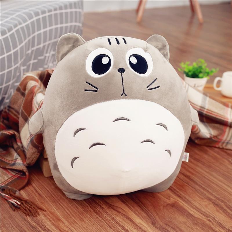可爱龙猫抱枕公仔表情猫咪玩偶毛绒玩具软体布娃娃生日礼物