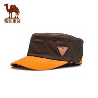 骆驼帽子春夏季男女童平顶鸭舌帽儿童中大童伸缩棒球帽防晒遮阴帽