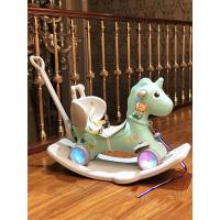 木马 儿童摇马摇摇马婴儿宝宝玩具1-3周岁礼物 塑料两用加厚大号2