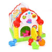 汇乐玩具趣味小屋婴儿早教智力形状积木配对宝宝1-2周岁智慧屋