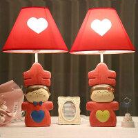 婚庆台灯卧室床头灯 红色婚房台灯时尚可爱温馨结婚礼物